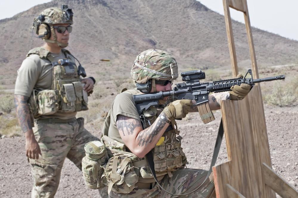 Live-fire exercise at Arta Gun Range