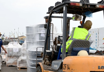 Patuxent (T-OA 201) Re-supplies at Port of Djibouti