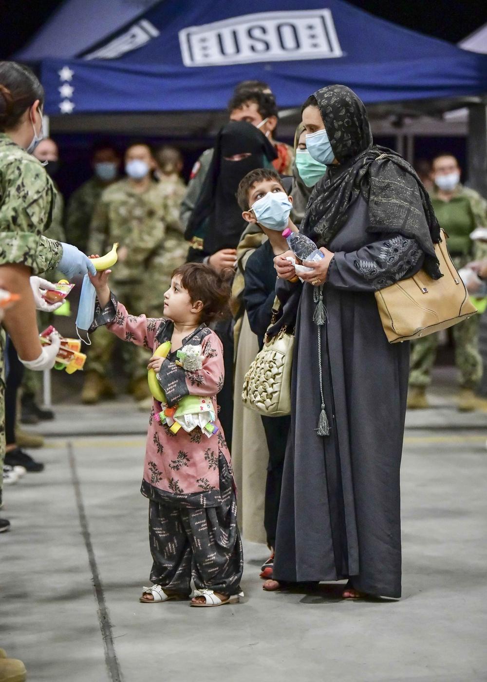 NAS Sigonella receives Afghan evacuees