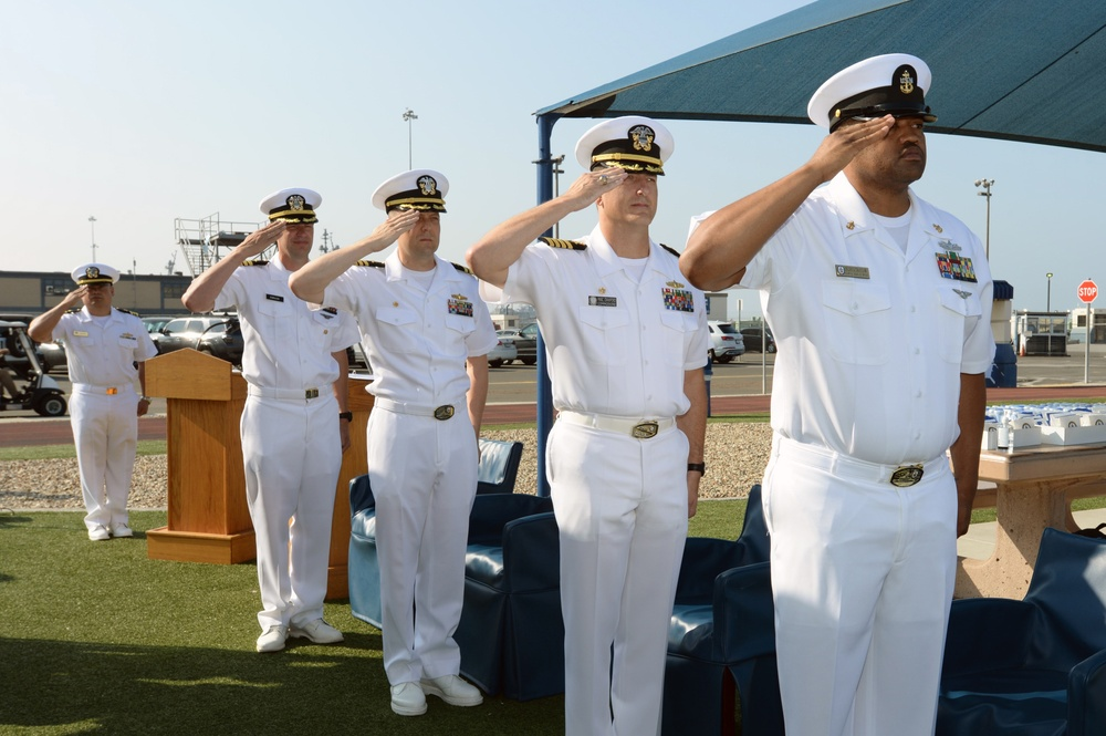 USS Montgomery (LCS 8) Blue Crew Change of Command