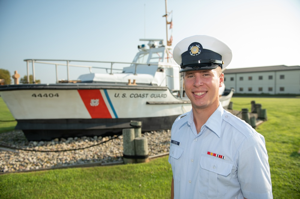 Fireman Zachary Stephan earns Coast Guard Honor Graduate for boot camp company Zulu-200