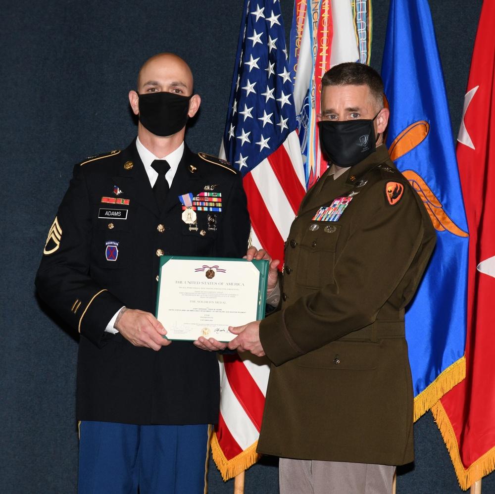 SSG Adams receives Soldier's Medal