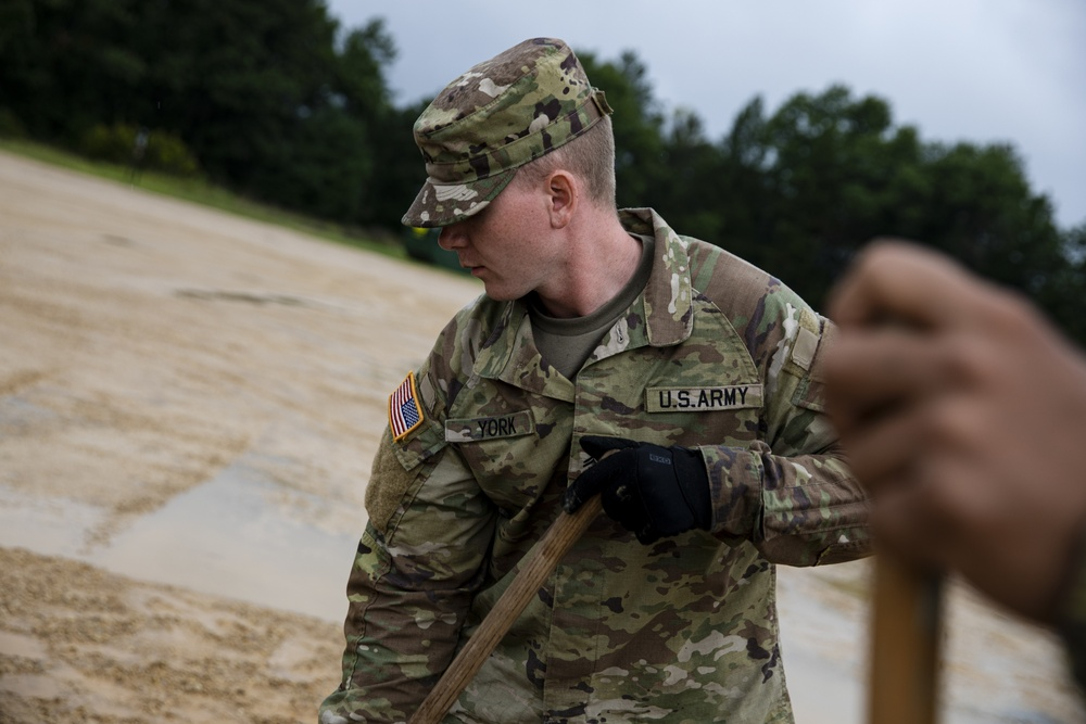 U.S. Soldiers Build Elevated Walkway at Fort McCoy, Wisconsin
