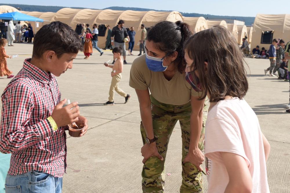 Former refugee volunteers for OAR