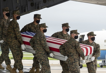 Marine Corps Sgt. Gee honored in dignified transfer Aug. 29