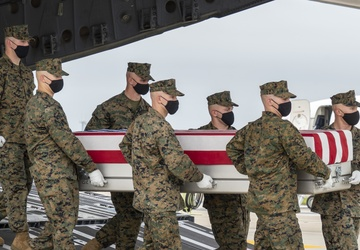 Marine Corps Sgt. Rosariopichardo honored in dignified transfer Aug. 29