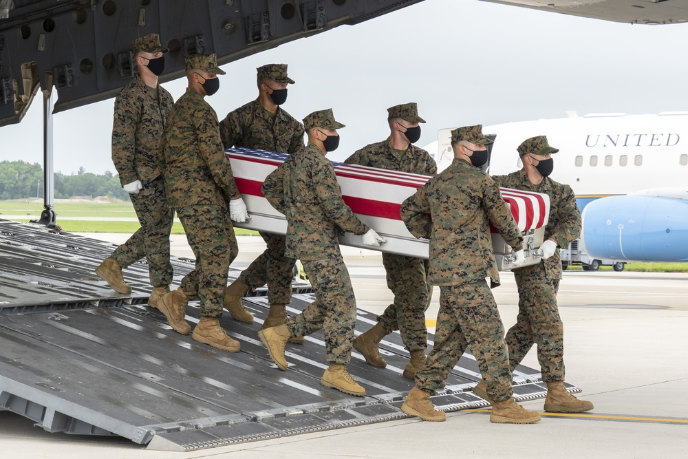 Marine Corps Lance Cpl. Merola honored in dignified transfer Aug. 29