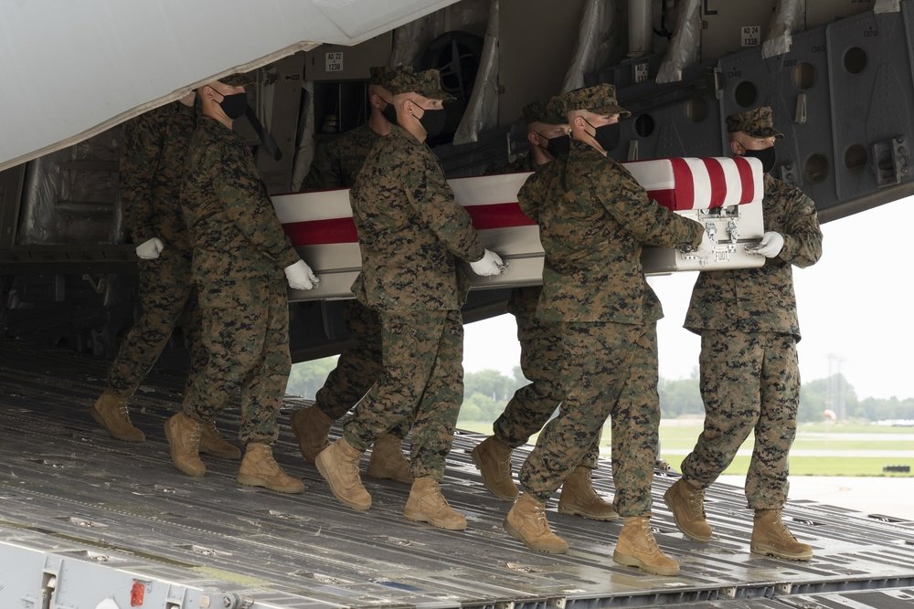 Marine Corps Lance Cpl. Nikoui honored in dignified transfer Aug. 29