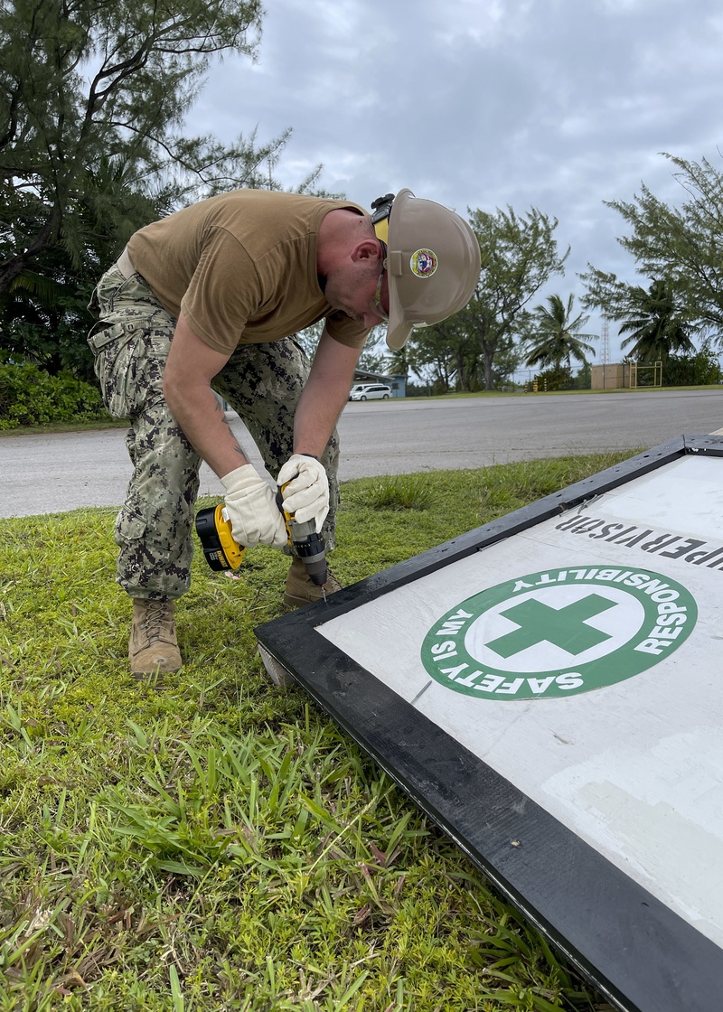 US Navy Seabees assigned to NMCB-5 start construction at Diego Garcia