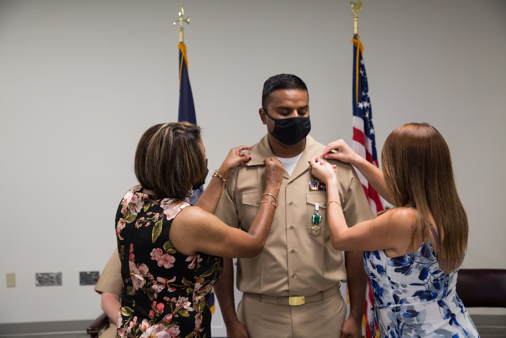 Charlotte Native Receives Commission as a  U.S. Navy Limited Duty Officer