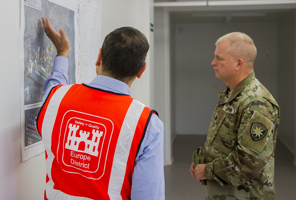 50th Regional Support Group commander tours strategic project site in Poland