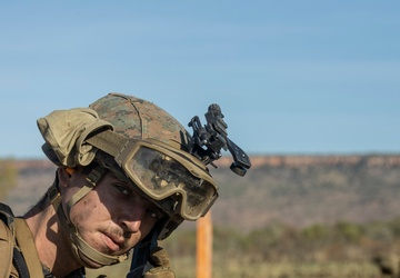 U.S. Marines and Australian Army Soldiers call in close air support during Exercise Koolendong