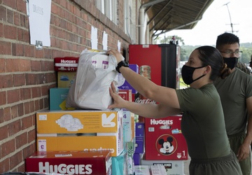 Marines and Civilians donate to Afghan Families