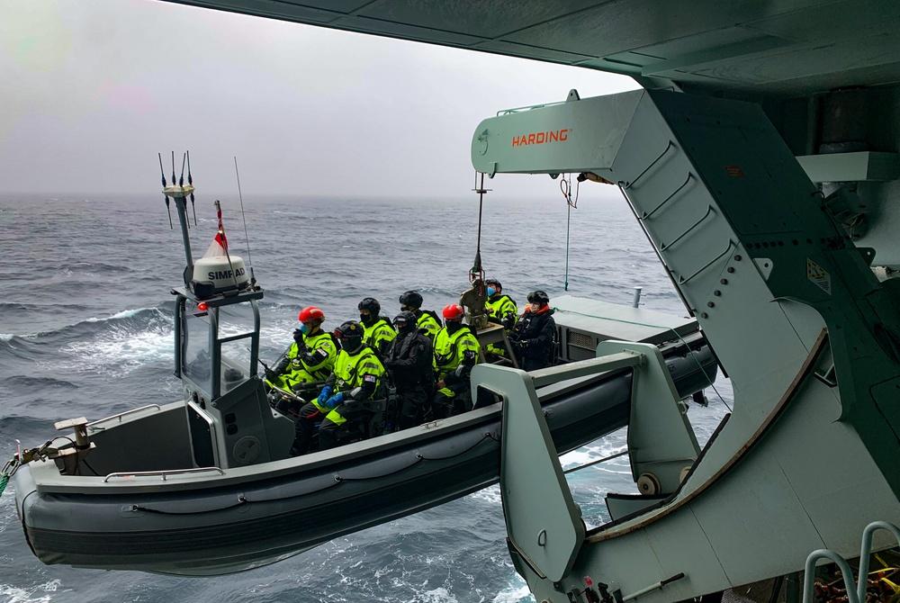 HMCS Harry DeWolf Mass Rescue Exercise