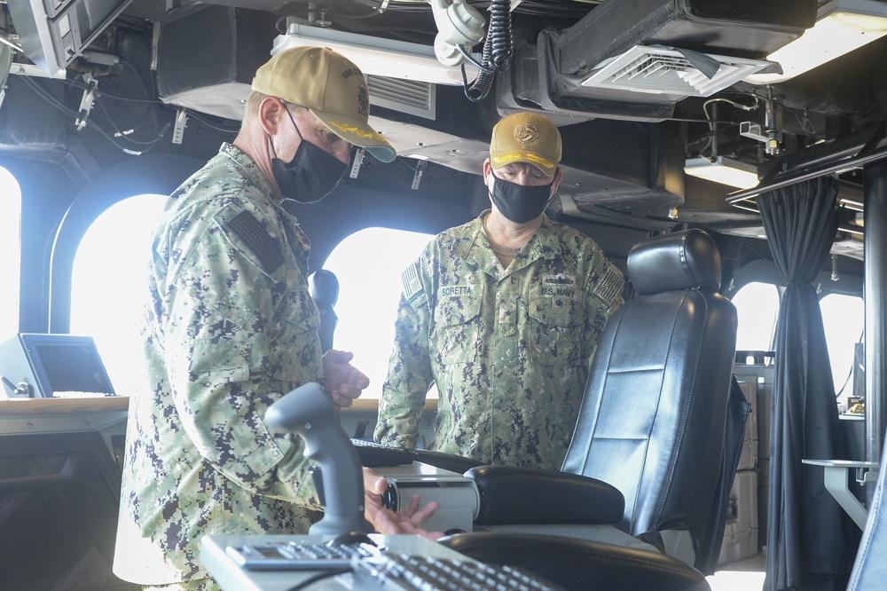 USS Coronado (LCS 4) Hosts RDML Sciretta