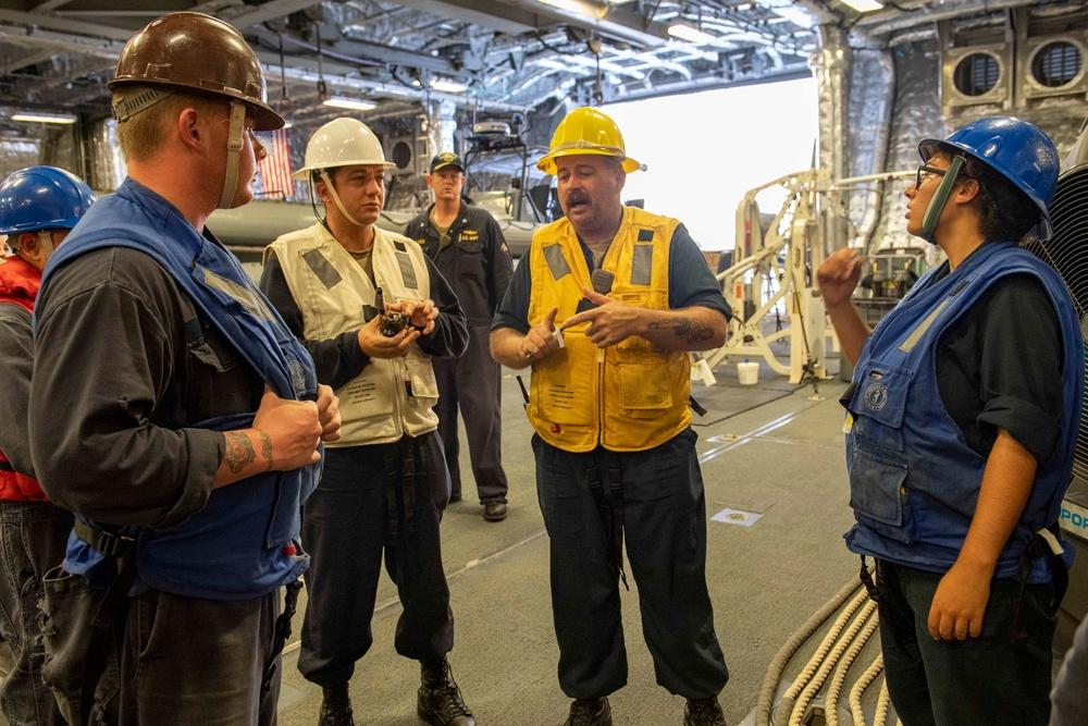 Boat Operation Aboard USS Charleston (LCS 18)