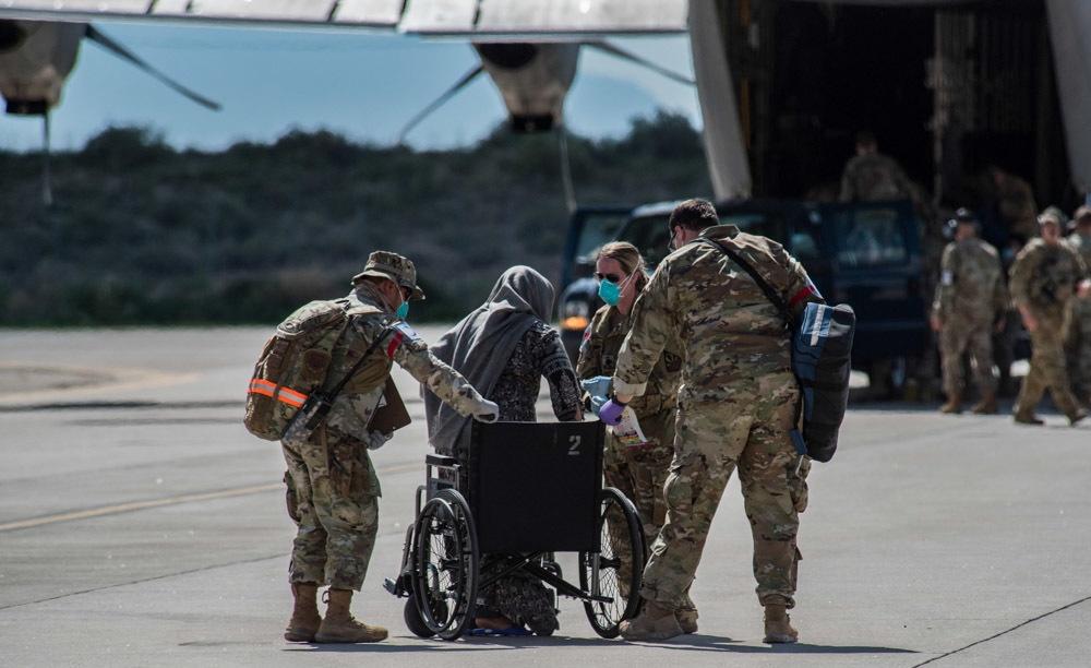 Task Force-Holloman Receives Afghan Evacuees