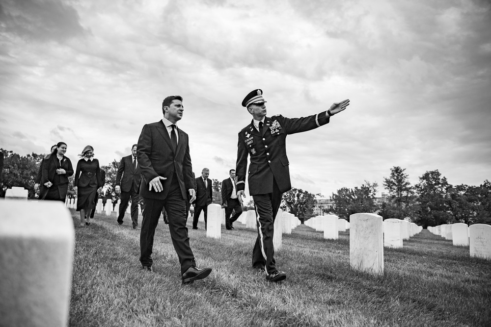 President of Ukraine Volodymyr Zelenskyy Visits Arlington National Cemetery and Participates in an Armed Forces Full Honors Wreath-Laying Ceremony at the Tomb of the Unknown Soldier