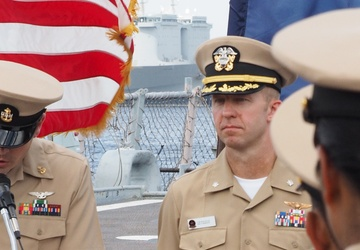 Naval Museum hosts a commissioning ceremony aboard Battleship Wisconsin