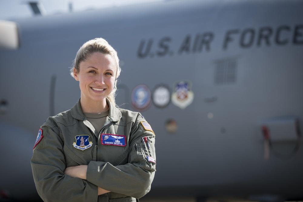 1Lt. Samanda McGiffin, C-130H Hercules Pilot