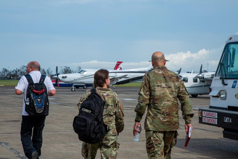 USACE leaders survey damage