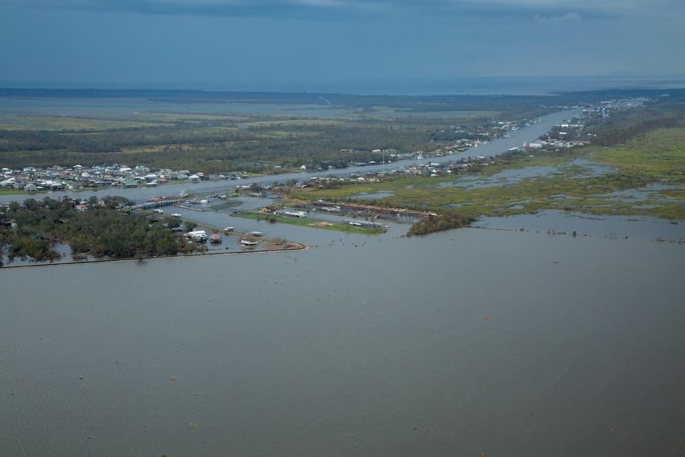 USACE surveys Hurricane Ida damage