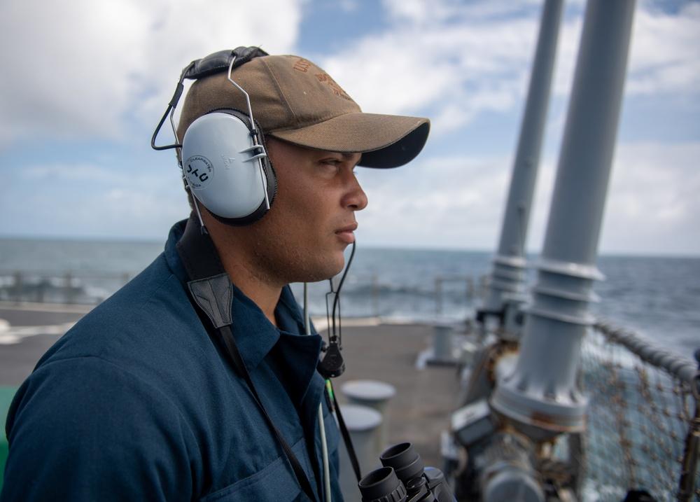 USS O'Kane (DDG 77) Stands Watch