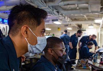 USS Carl Vinson (CVN 70) Sailors Conduct Audit