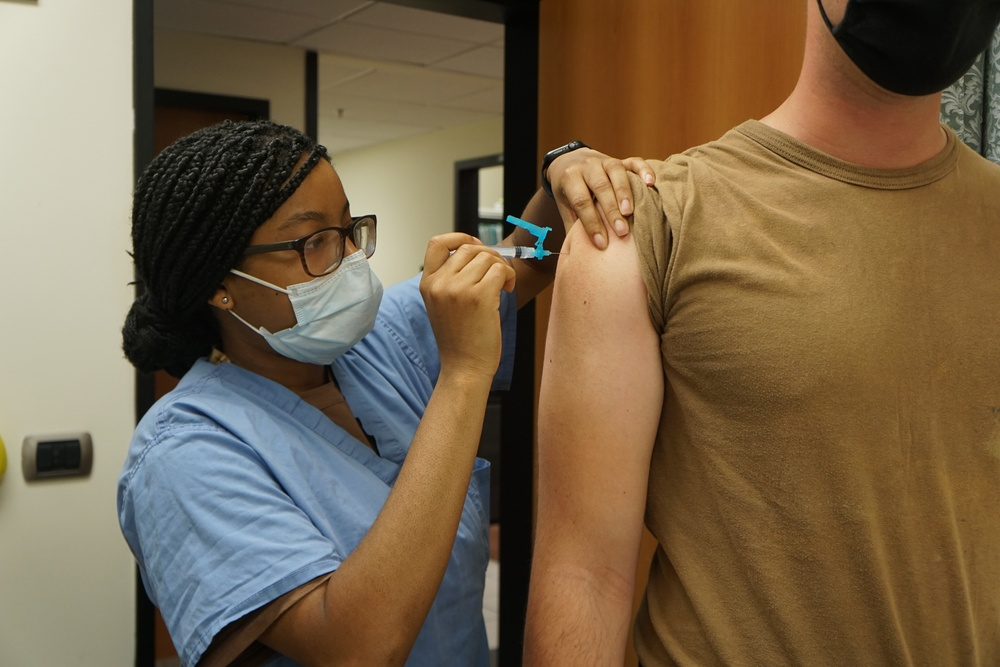 NMRTC Sigonella Supports COVID-19 Vaccination Shot Exercise