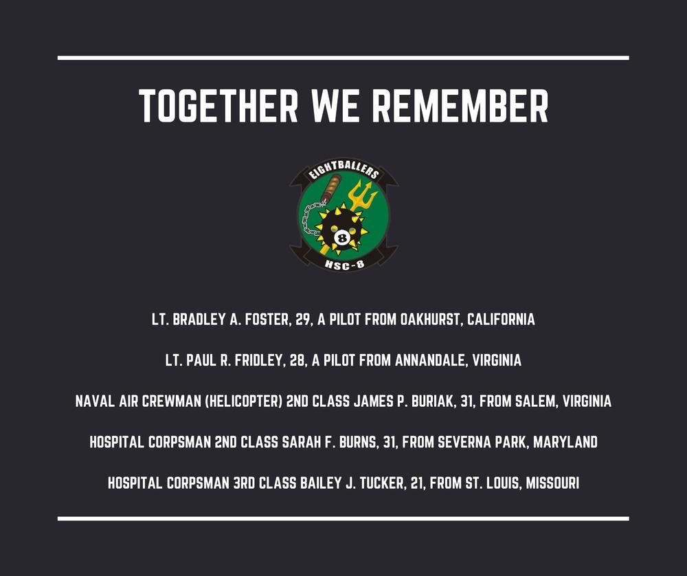 Remembering our Fallen HSC-8 Shipmates
