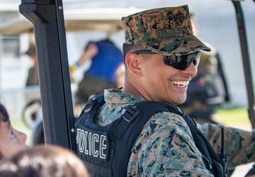 U.S. Marines Interact with Afghan Civilians