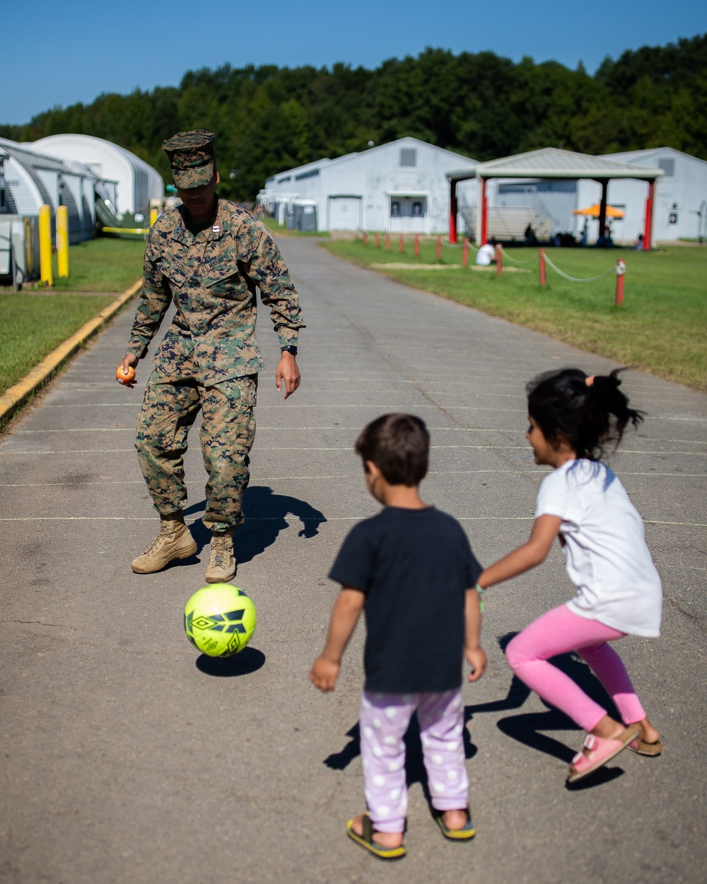 Marines Interact with Afghan Children