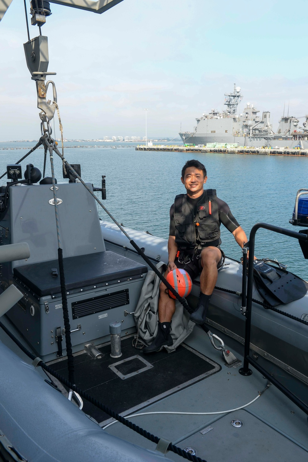 COMLCSRON ONE Reserve Sailor Supports LCS  Search-and-Rescue Program