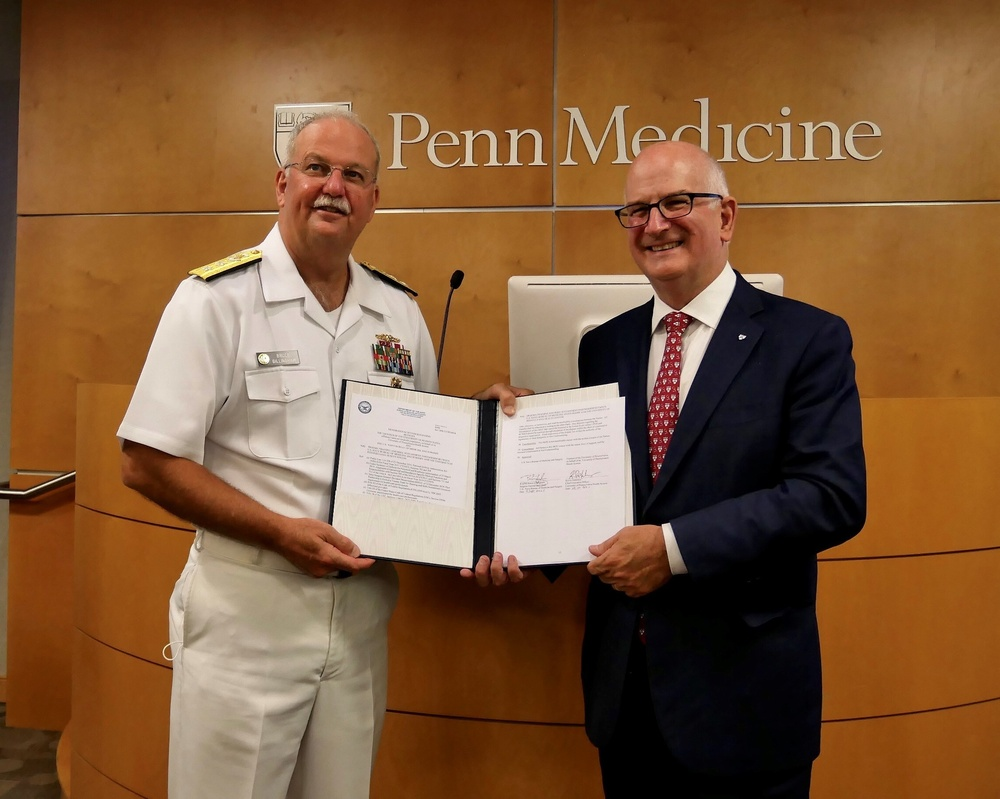 Navy Surgeon General signs three-year partnership to integrate members of the Navy with the Trauma Division at Penn Presbyterian Medical Center (PPMC)