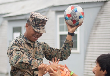 U.S. Marines Interact with Afghan Children