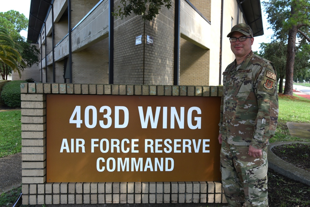 403rd Wing's first full-time first shirt