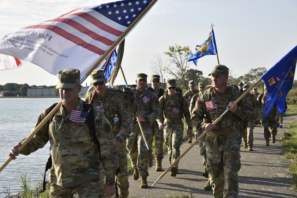 127th Wing Commemoration Ruck Walk