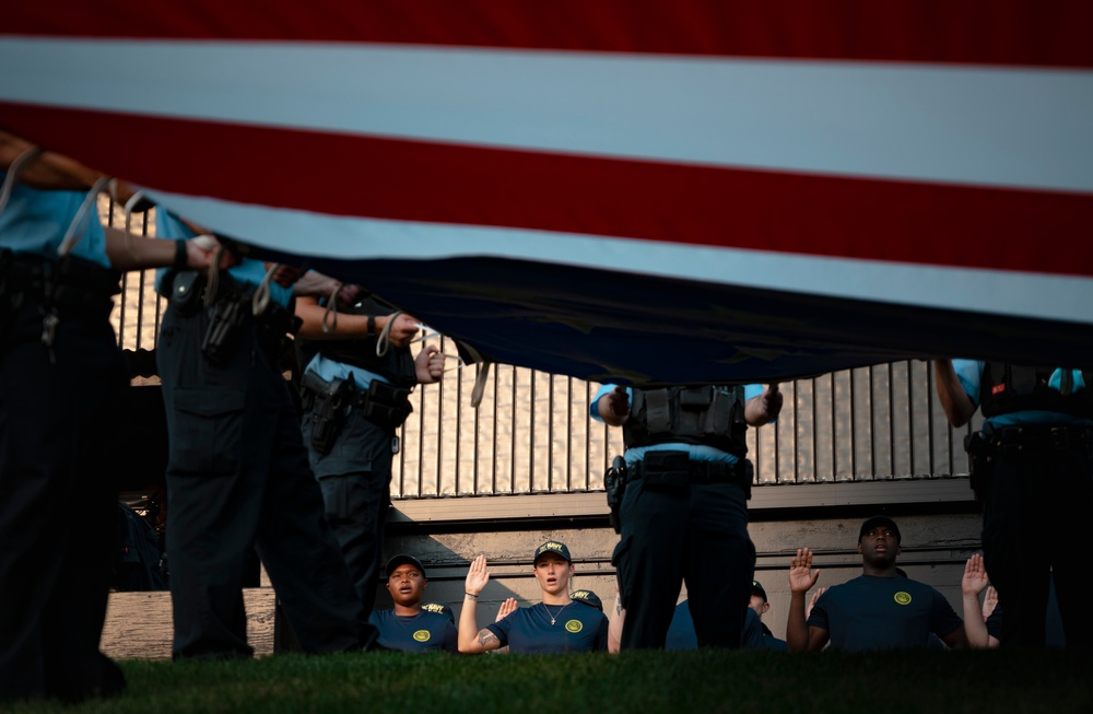 Recruits from All Services Swear-In on 20th Anniversary of 9/11