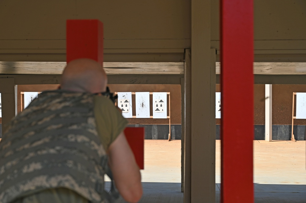 134th Air Refueling Wing airmen train at Combat Arms Training Maintenance