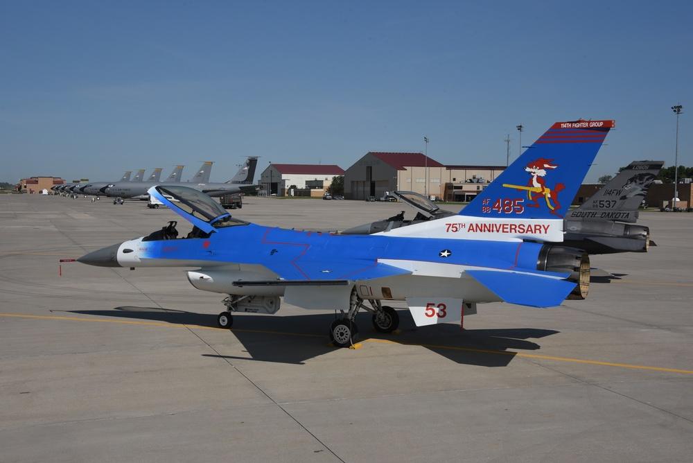Blue South Dakota ANG heritage F-16