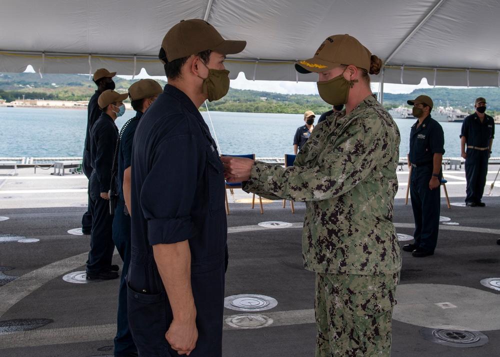 Awards Ceremony aboard USS Jackson (LCS 6)