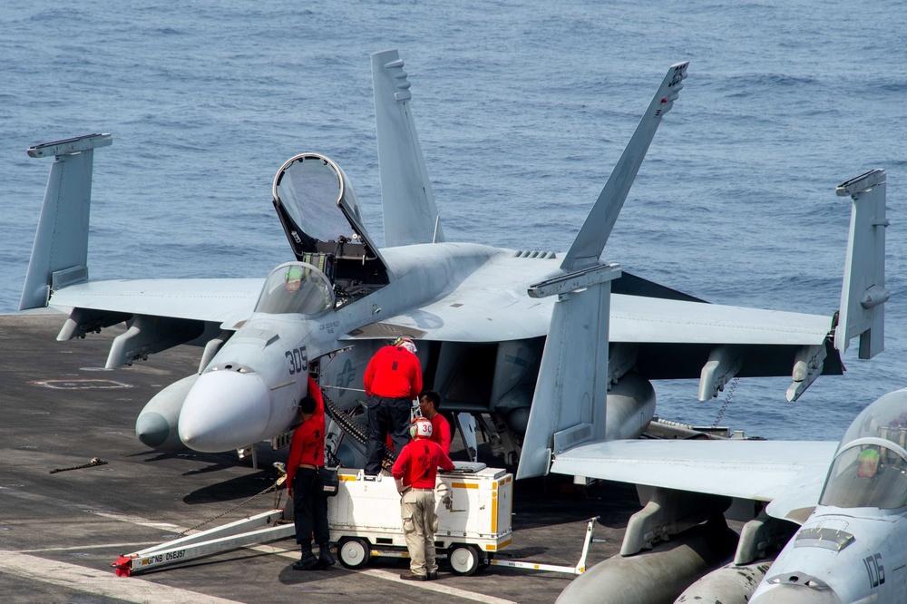 USS Carl Vinson (CVN 70) Conducts Flight Deck Operations