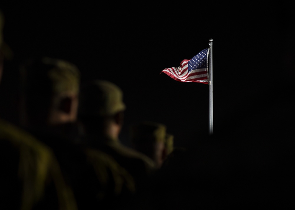 Coalition troops participate in 9/11 Memorial