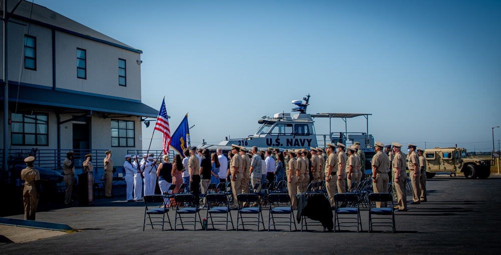 MSRON 11 hold a Retirement Ceremony in Honor of Chief Aviation Boatswain's Mate Conrad Lake onboard NWS Seal Beach