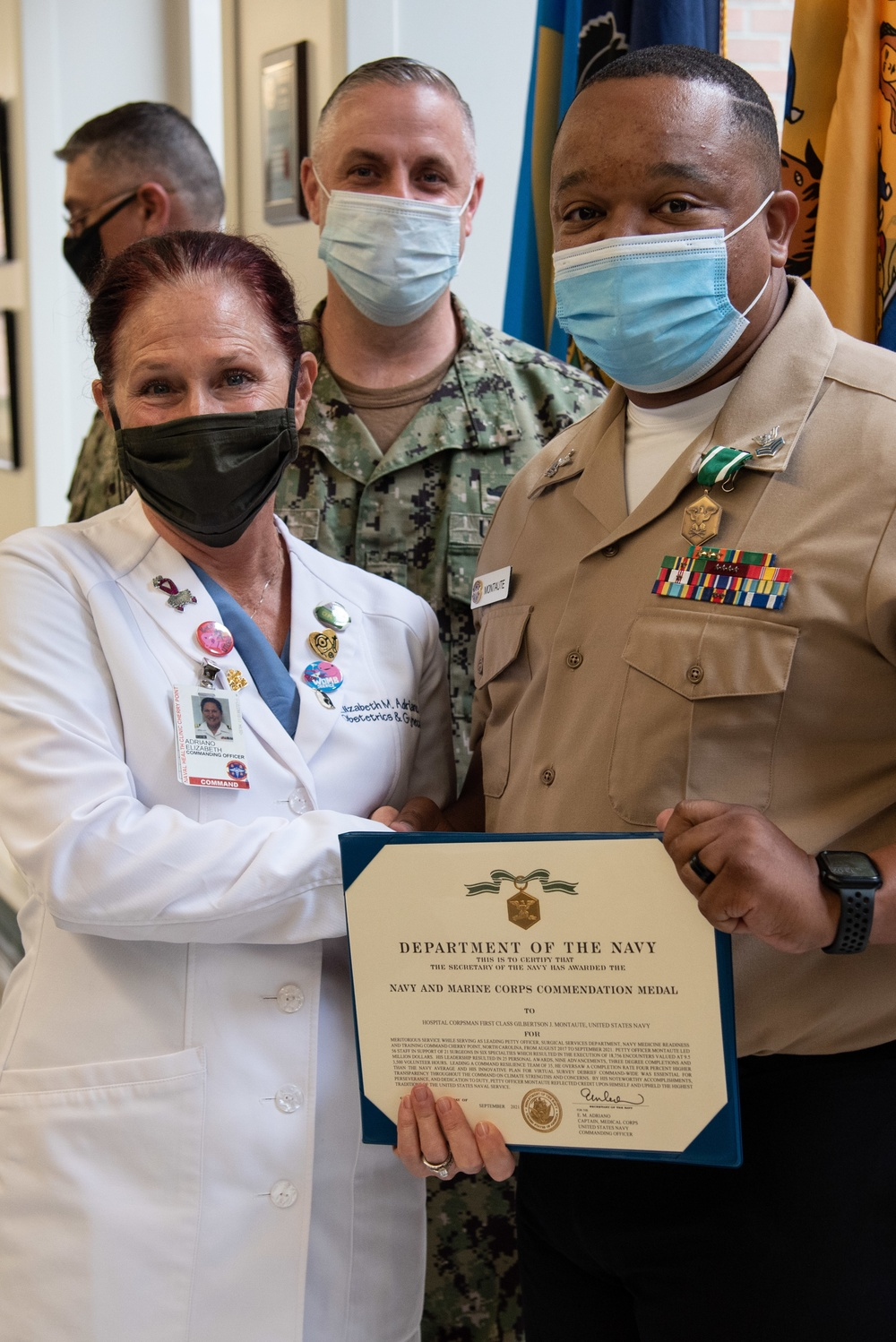 Cherry Point Clinic Officers Promote, Enlisted Recognized for Excellence