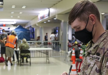 Soldiers Support Afghan Evacuees at Philadelphia International Airport