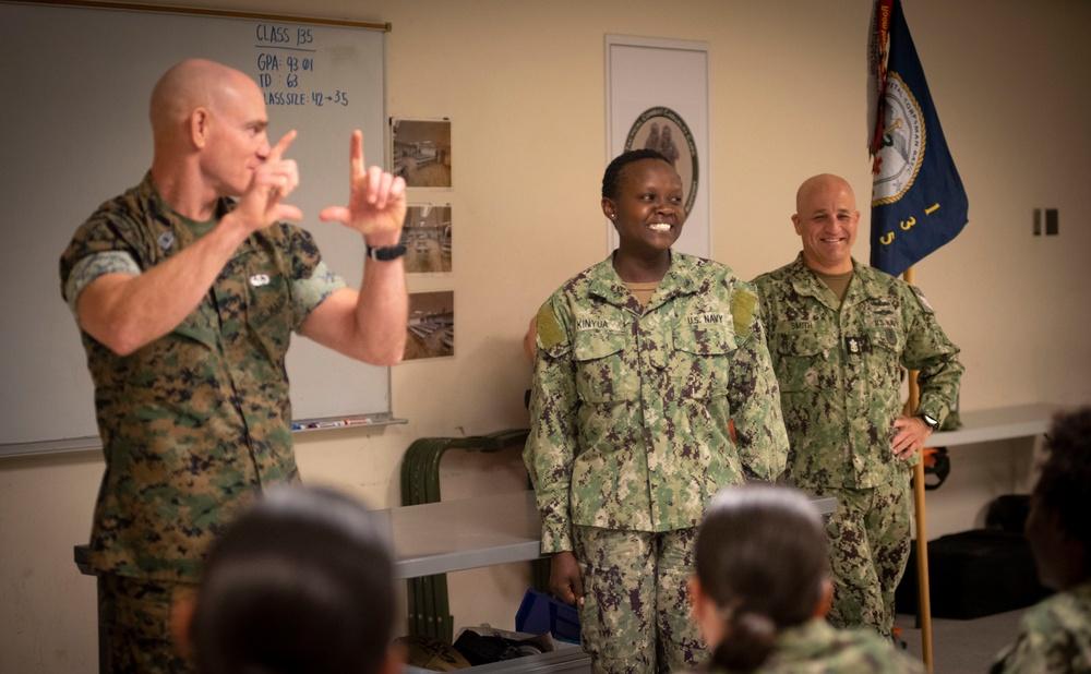 """MCPON, SMMC Visit Corpsman """"A"""" School"""