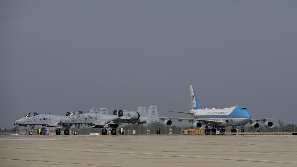 President Biden Lands at Gowen Field