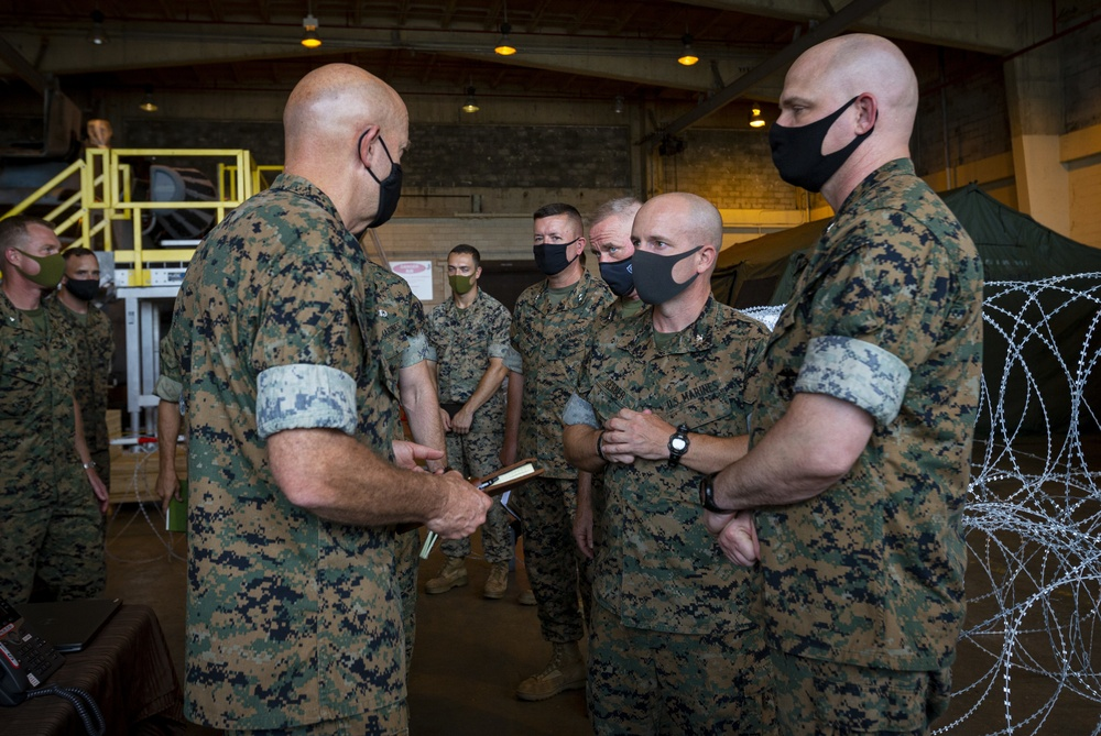 Commandant and Sergeant Major of the Marine Corps visits III MEF