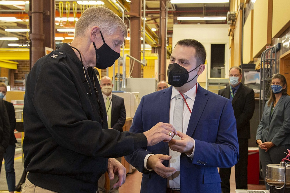 Chief of naval research learns more about NUWC Division Newport's current, future projects